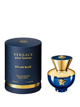 Apa de parfum Versace Dylan Blue Pour Femme, 50 ml, pentru femei imagine produs
