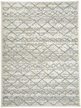 Covor Decorino Modern & Geometric C23-031603, Bej/Alb, 100x150 cm
