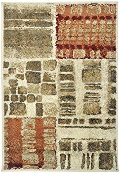 Covor Decorino Patchwork C23-032003, Bej/Verde/Maro, 100x150 cm imagine