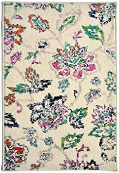 Covor Decorino Floral C103-032107, Bej/Multicolor, 200x285 cm