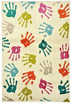Covor Decorino Copii & Tineret C116-032209, Alb/Multicolor, 67x120 cm