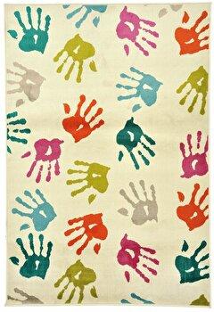Covor Decorino Copii & Tineret C23-032209, Alb/Multicolor, 100x150 cm