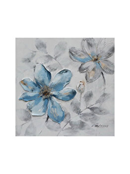 Tablou pictat manual Mendola Art, Blue, 218-EOPE7497A, 40 x 40 cm