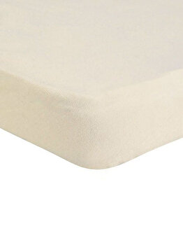 Cearceaf de pat Mendola Jersey cu elastic, 277-CE90200-02, 90 x 200 cm, Crem imagine