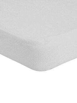 Cearceaf de pat Mendola Jersey cu elastic, 277-CE90200-04, 90 x 200 cm, Gri imagine
