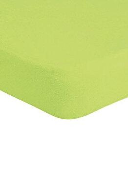 Cearceaf de pat Mendola Jersey cu elastic, 277-CE90200-06, 90 x 200 cm, Verde imagine