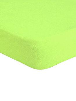 Cearceaf de pat Jersey cu elastic, 277-CE140200-06, 140 x 200 cm, Verde imagine