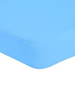 Cearceaf de pat Jersey cu elastic, 277-CE140200-05, 140 x 200 cm, Turcoaz imagine