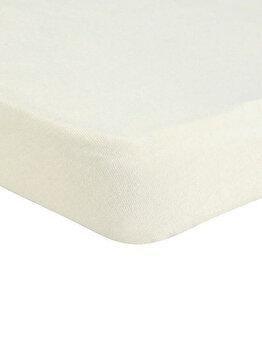 Cearceaf de pat Mendola Jersey cu elastic, 277-CE160200-01, 160 x 200 cm, Alb imagine
