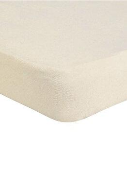 Cearceaf de pat Jersey cu elastic, 277-CE160200-02, 160 x 200 cm, Crem imagine