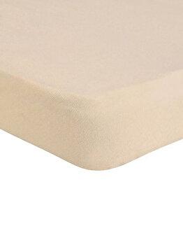 Cearceaf de pat Mendola Jersey cu elastic, 277-CE160200-03, 160 x 200 cm, Bej imagine