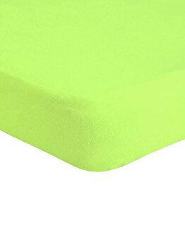 Cearceaf de pat Mendola Jersey cu elastic, 277-CE160200-06, 160 x 200 cm, Verde imagine