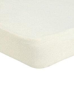 Cearceaf de pat Mendola Jersey cu elastic, 277-CE180200-01, 180 x 200 cm, Alb imagine