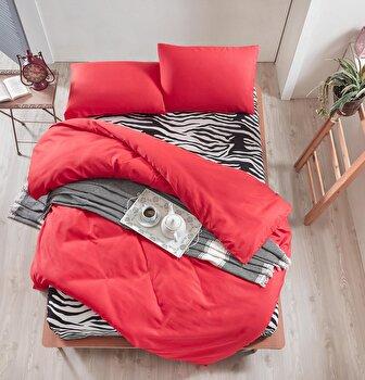 Lenjerie de pat dublu EnLora Home, din bumbac 65 procente, poliester 35 procente, 200 x 220 cm, 162ELR1437 imagine