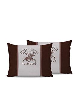 Set doua fete de perna Beverly Hills Polo Club, din bumbac 100 procente, 50 x 70 cm, 176BHP0114