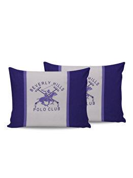 Set doua fete de perna Beverly Hills Polo Club, din bumbac 100 procente, 50 x 70 cm, 176BHP0116
