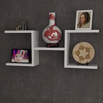 Raft de perete Furny Home, din melamina 100 procente, 75 x 28, 5 x 14,5 cm, 756FRN1613 imagine