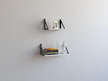 Raft de perete Decormet, din melamina 100 procente, 45 x 20 x 20 cm, 775DCM1650 imagine
