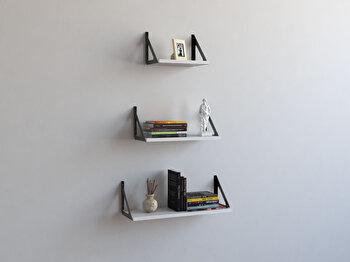 Raft de perete Decormet, din melamina 100 procente, 60 x 20 x 20 cm, 775DCM1701 imagine