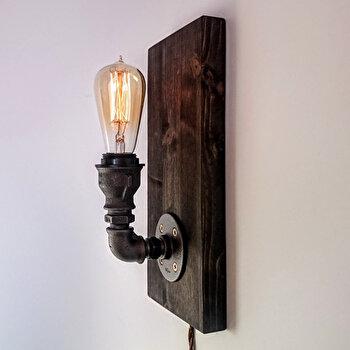 Lampa tip suport Evila Originals, din fonta, 30 x 15 x 10 cm, 791EVL1550 imagine