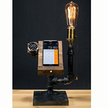 Lampa tip suport Evila Originals, din fonta, 30 x 13 x 13 cm, 791EVL1553 imagine
