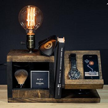 Lampa tip suport Evila Originals, din fonta, 33 x 24 x 13 cm, 791EVL1559 imagine