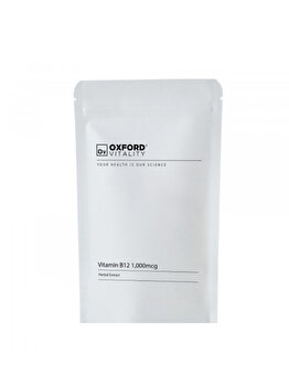 Supliment alimentar Oxford Vitality Vitamina B12 (Cyanocobalamin) 1000 mcg, 120 tablete de la Oxford Vitality