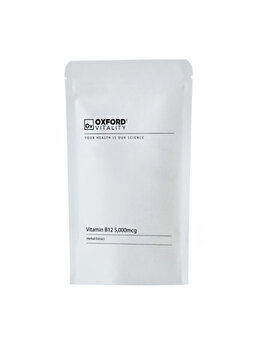 Supliment alimentar Oxford Vitality Vitamina B12 (Cyanocobalamin) 5000 mcg, 120 tablete de la Oxford Vitality