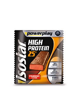 Isostar PowerPlay High Protein Bar Capsuni, 3X35 grame Isostar
