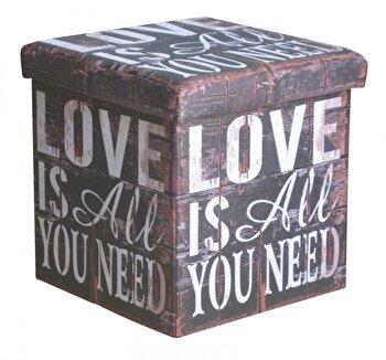 Taburet pliabil, Heinner, love, HR-FLD38-LOVE imagine