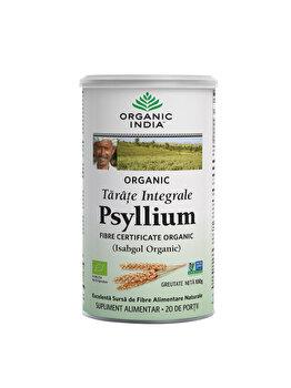 Supliment alimentar natural cu tarate de Psyllium Integrale Eco/Bio 100g Organic India de la ORGANIC INDIA