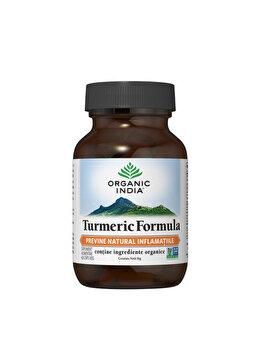 Supliment alimentar natural Turmeric Formula 60cps veg Organic India de la ORGANIC INDIA