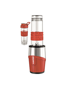 Blender, Albatros, 600 W, 570 Ml, Inox, Fitness Mix, Rosu