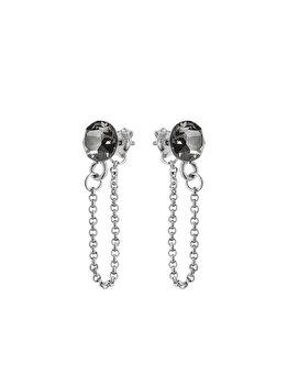 Cercei e-Crystal din Argint 925 placat cu rodiu cu cristale Swarovski CXILS625 elefant imagine 2021