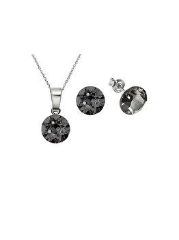 Set e-Crystal din Argint 925 placat cu rodiu cu cristale Swarovski SXIS825L elefant imagine 2021