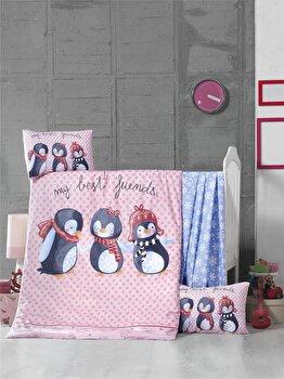 Set lenjerie de pat pentru copii Victoria, 121VCT2033, bumbac ranforce 100 procente, 100 x 150 cm imagine