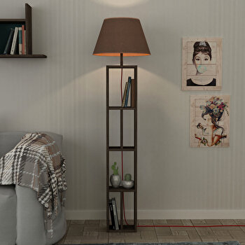 Lampa pentru podea Homitis, 776HMS1408, pal melaminat, 45 x 45 x 163.5 cm imagine
