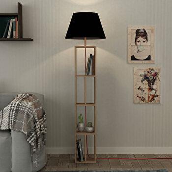 Lampa pentru podea Homitis, 776HMS1404, pal melaminat, 45 x 45 x 163.5 cm imagine