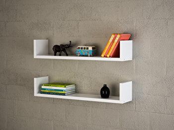 Raft de perete Furny Home, 756FRN1607, pal melaminat, 63 x 14.5 x 14.5 cm imagine
