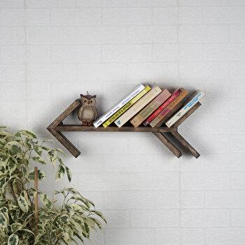 Raft de perete Evila Originals, 792EVL1655, lemn masiv 100 procente, 52 x 20 x 8 cm