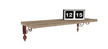 Raft de perete Decormet, 775DCM1744, pal melaminat, 20 x 60 x 14 cm imagine