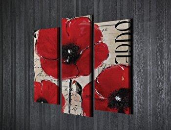 Tablou decorativ Majestic, 257MJS1456, canvas 100 procente, 3 piese, 40 x 20 cm