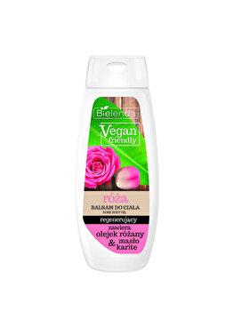 Balsam regenerant corp cu Trandafiri Vegan Friendly, 400 ml