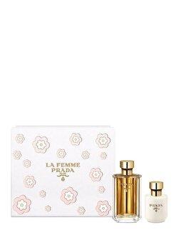 Set cadou Prada La Femme ( Apa de parfum 100 ml + Lotiune de corp 100 ml), pentru femei imagine