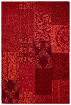 Covor Decorino Patchwork C243-251903, Rosu, 57x110 cm imagine