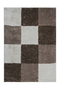 Covor Decorino Modern & Geometric C04-014108, Bej, 80x150 cm imagine