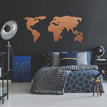 Decoratiune pentru perete, Ocean, metal 100 procente, 121 x 56 cm, 874OCN1014, Maro