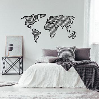 Decoratiune pentru perete, Ocean, metal 100 procente, 120 x 65 cm, 874OCN1068, Negru imagine