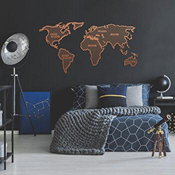 Decoratiune pentru perete, Ocean, metal 100 procente, 120 x 65 cm, 874OCN1066, Maro