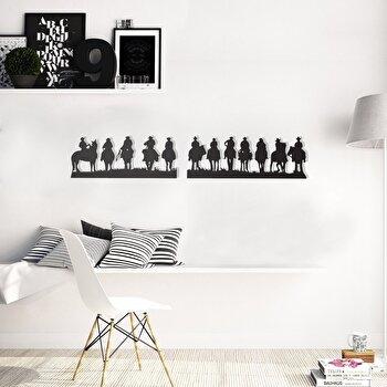Decoratiune pentru perete, Pirudem, metal 100 procente, 140 x 25 cm, 826PIR2078, Negru